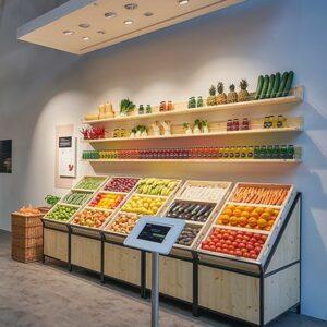 Kệ trưng bày trái cây, hoa quả TC049